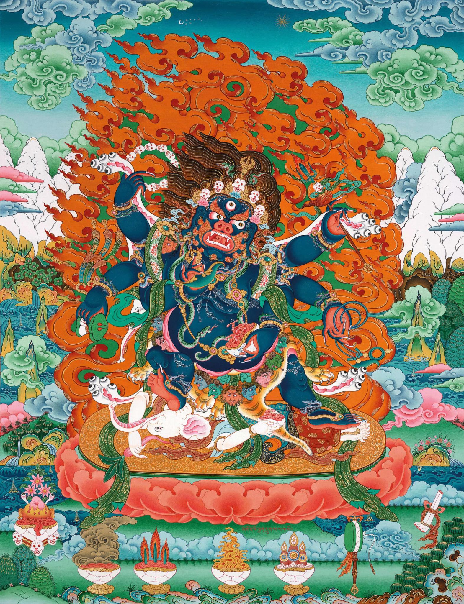Six Armed Mahakala