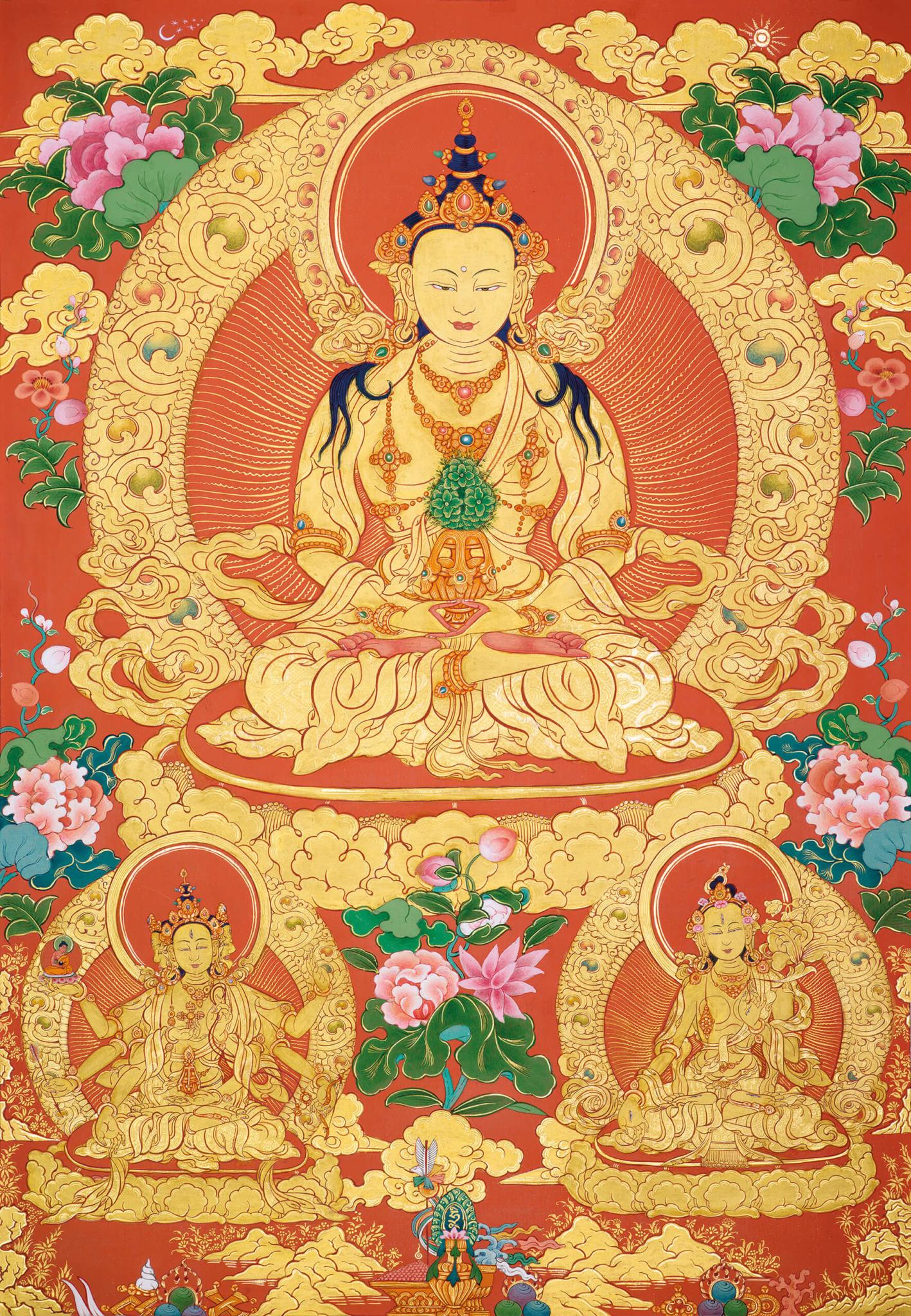 amitauys, tantra, dzogchen, buddhist thangka art