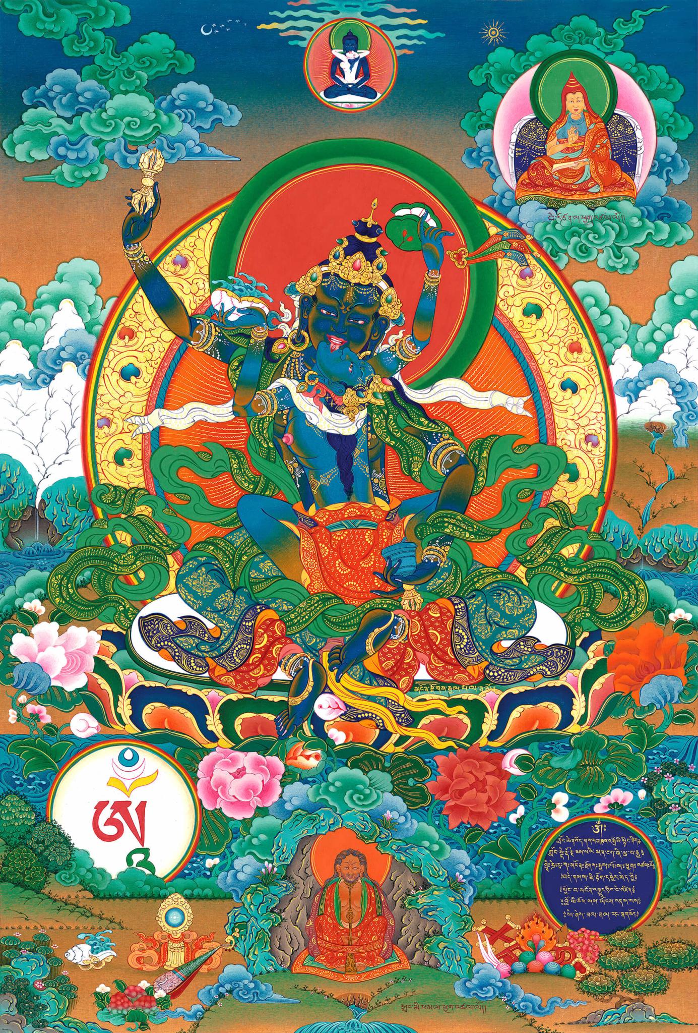 heruka, nantsog gyalpo, dzogchen, buddhist thangka art