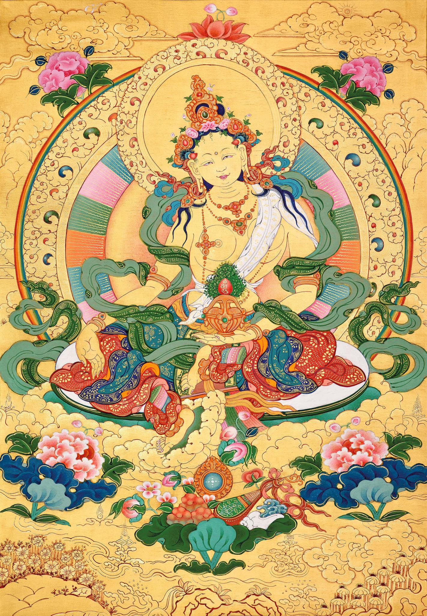 odser chenma, marichi, tara, dzogchen, buddhist thangka art