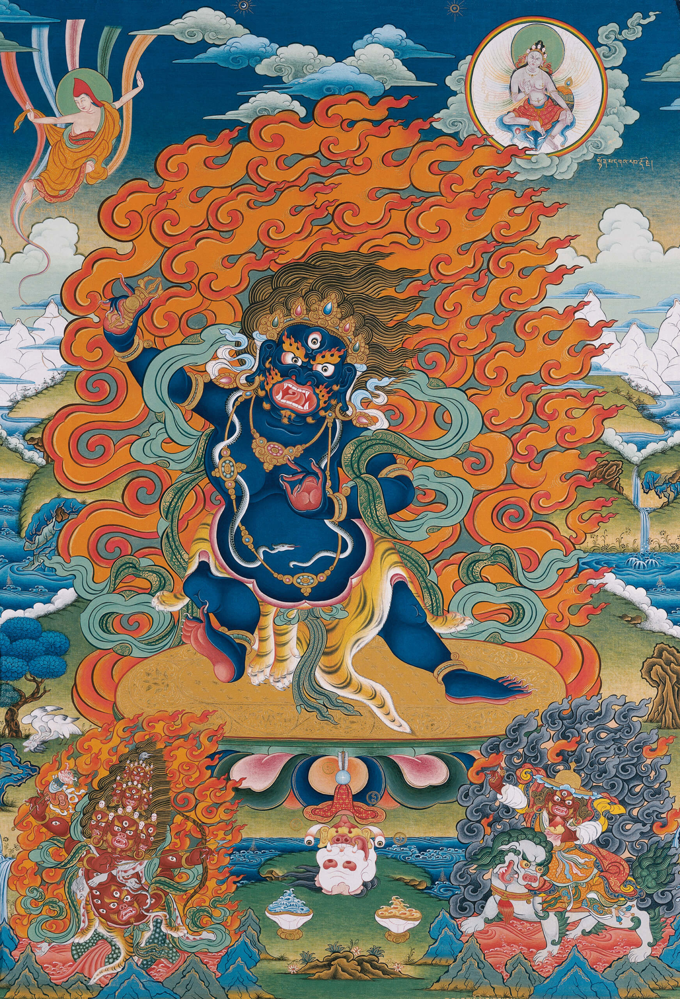Vajrapani and guardians